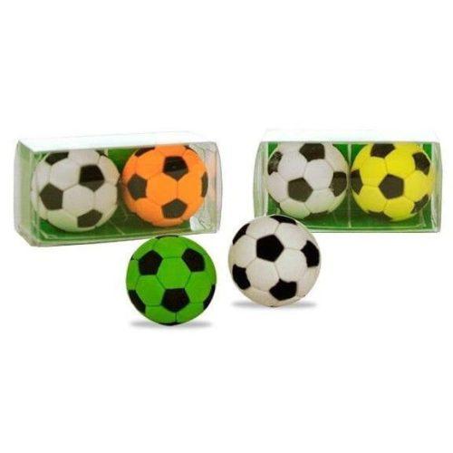 Radír Football labda, 2 db/csomag, 3 féle változat