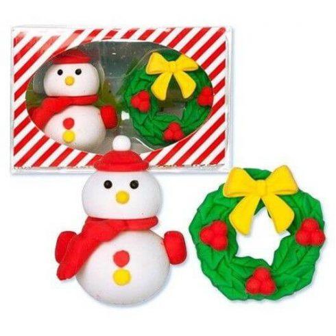 Radír Hóember és karácsonyi ajtódísz szett