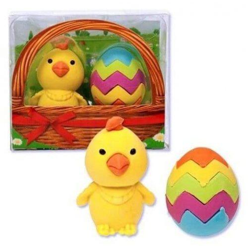 Radír Csibe tojással, 2 db/csomag
