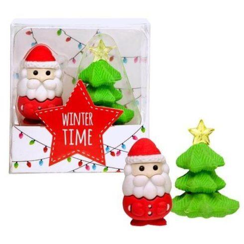 Radír Télapó és Karácsonyfa szett